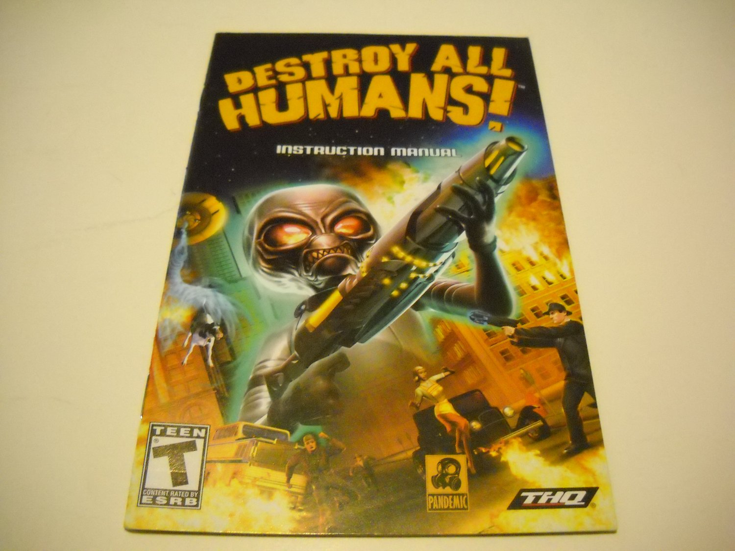Manual ONLY ~  for Destroy All Humans   Ps2