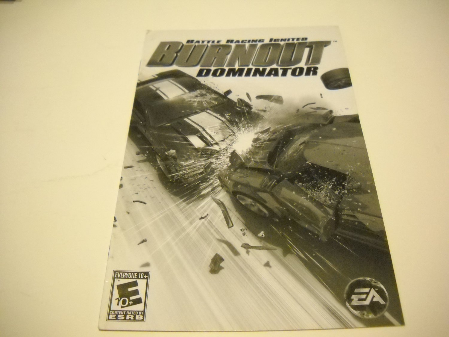 Manual ONLY ~  for Burnout Dominator   Ps2