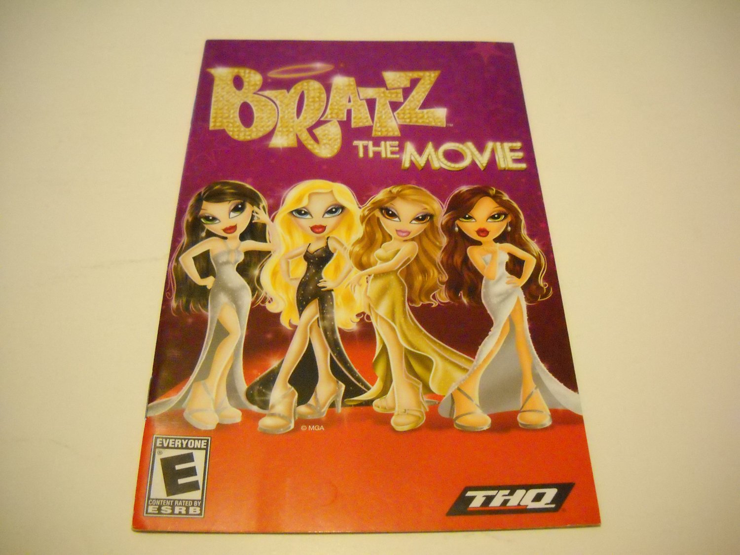 Manual ONLY ~  for Bratz The Movie   Ps2