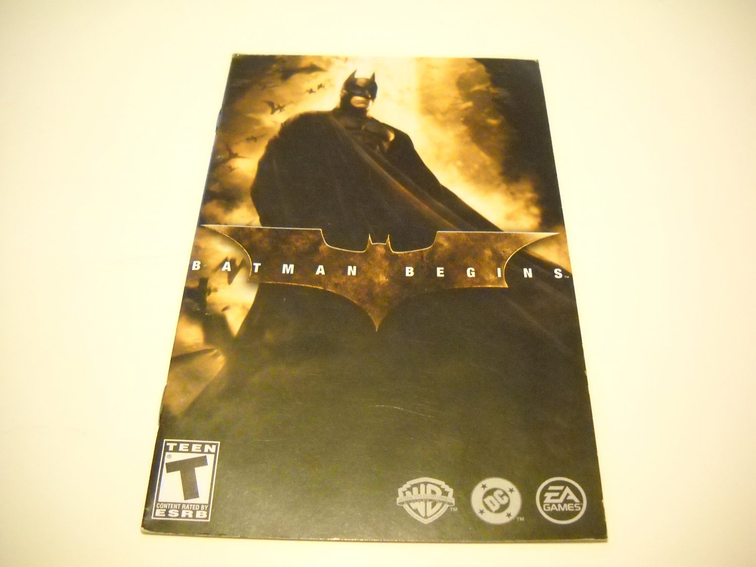 Manual ONLY ~  for Batman Begins   Ps2