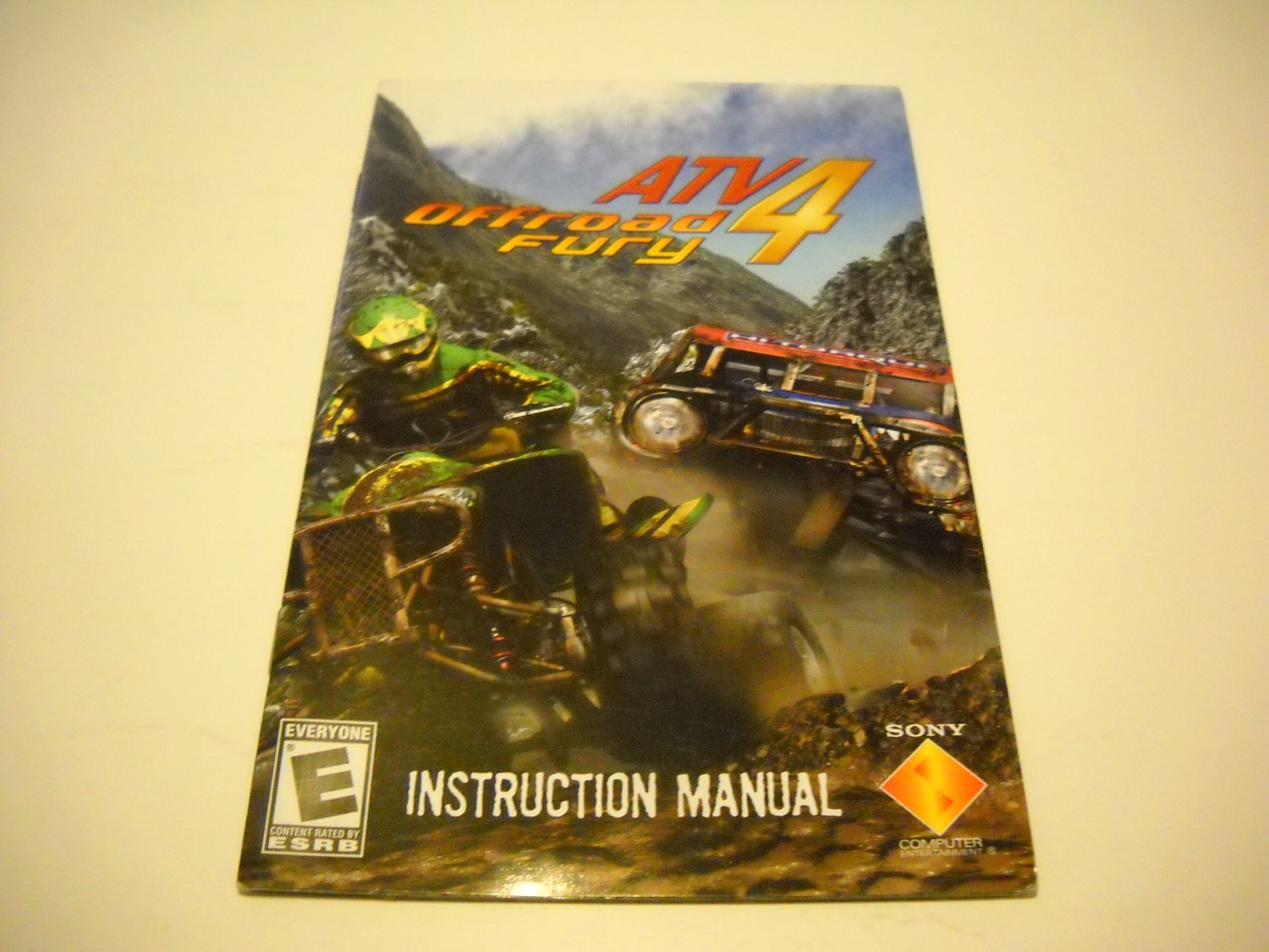 Manual ONLY ~  for ATV Offroad Fury 4   Ps2