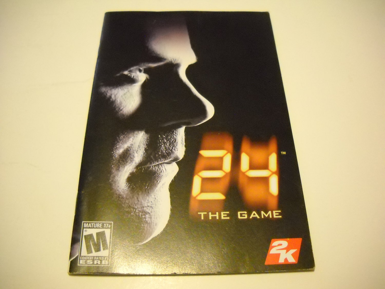 Manual ONLY ~  for 24 The Game   Ps2