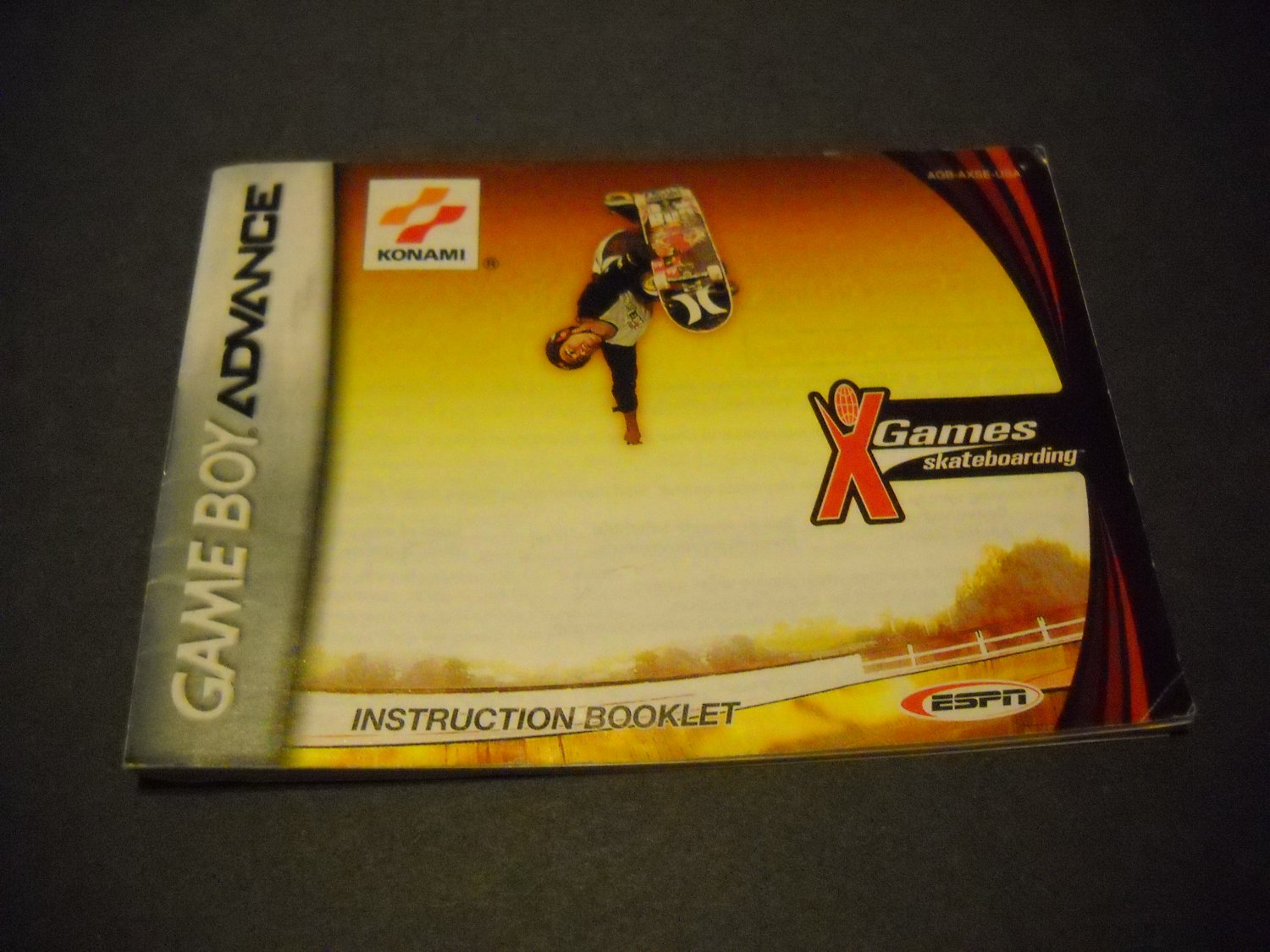 Manual ONLY ~  for X games Skateboarding  Gameboy Advance