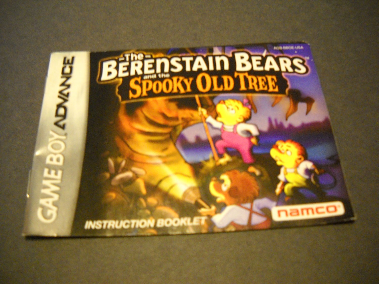 Manual ONLY ~  for The Berenstain Bears and the Spooky Old Tree  Gameboy Advance