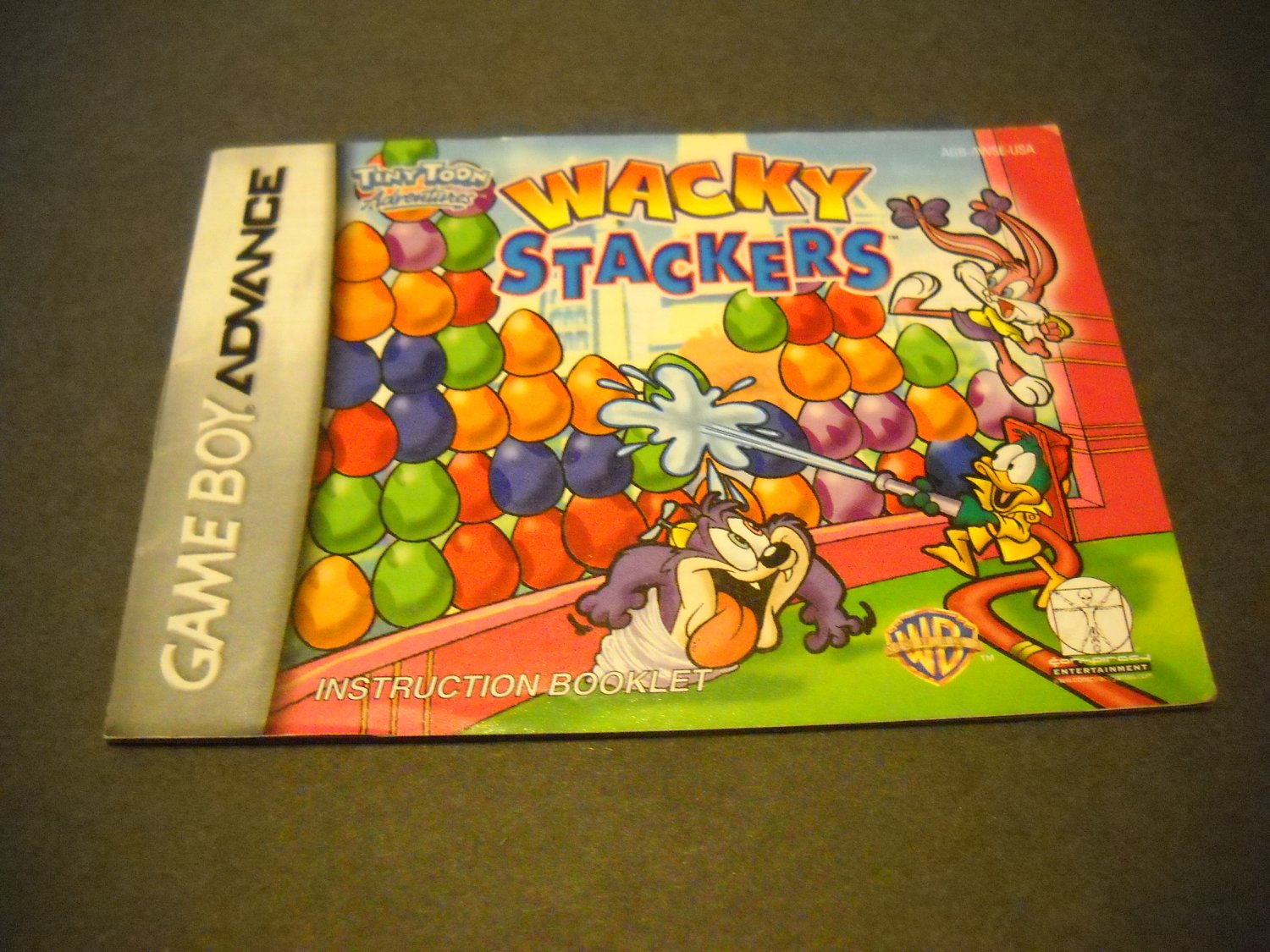 Manual ONLY ~  for Tiny Toons Adventures Wacky Stackers  Gameboy Advance