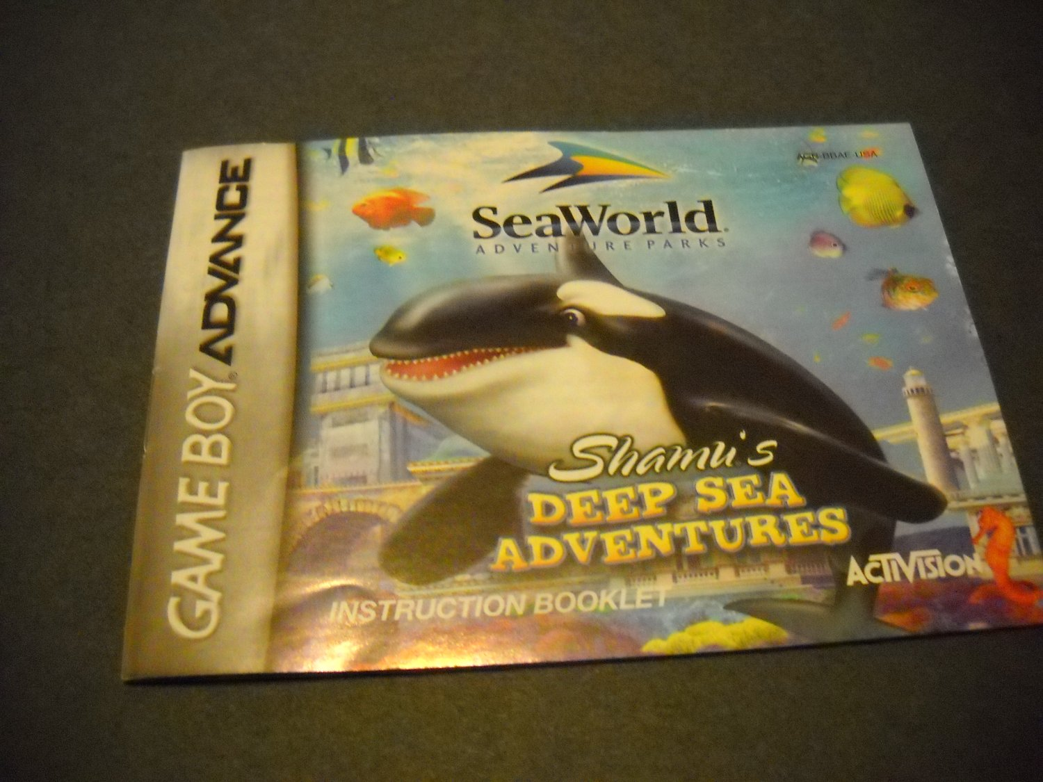 Manual ONLY ~  for Shamu's Deep Sea Adventures  Gameboy Advance