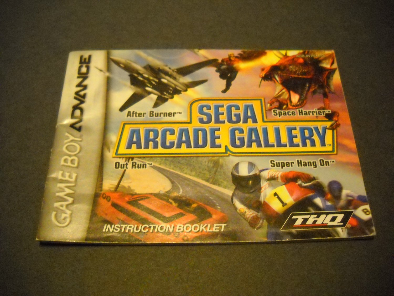 Manual ONLY ~  for Sega Arcade Gallery  Gameboy Advance