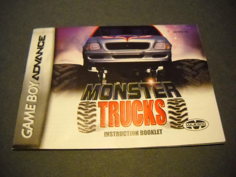 Manual ONLY ~  for Quad Desert Fury / Monster Trucks  Gameboy Advance