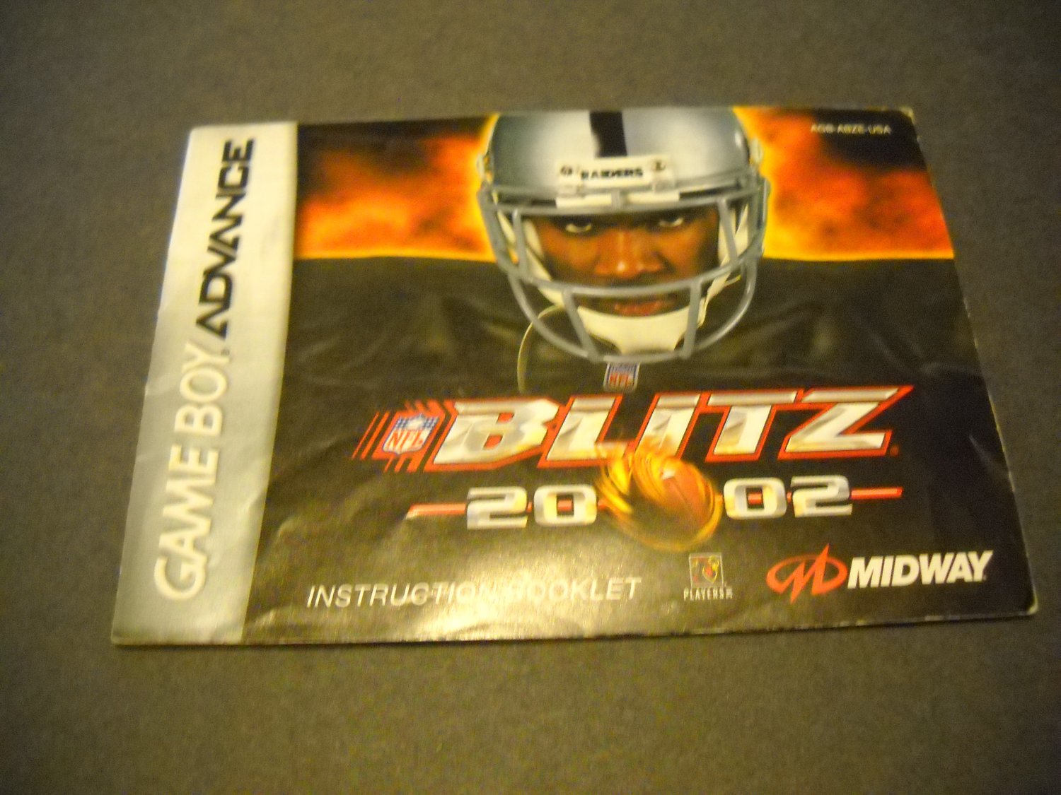 Manual ONLY ~  for NFL Blitz 2002  Gameboy Advance