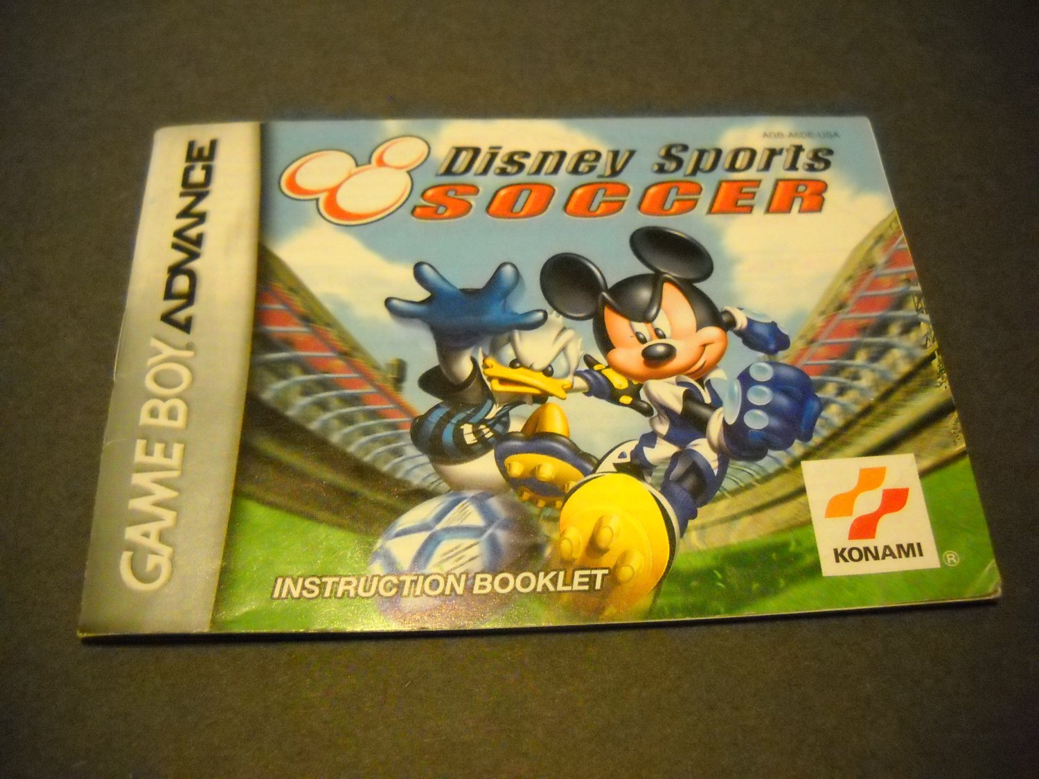 Manual ONLY ~  for Disney Sports Soccer  Gameboy Advance