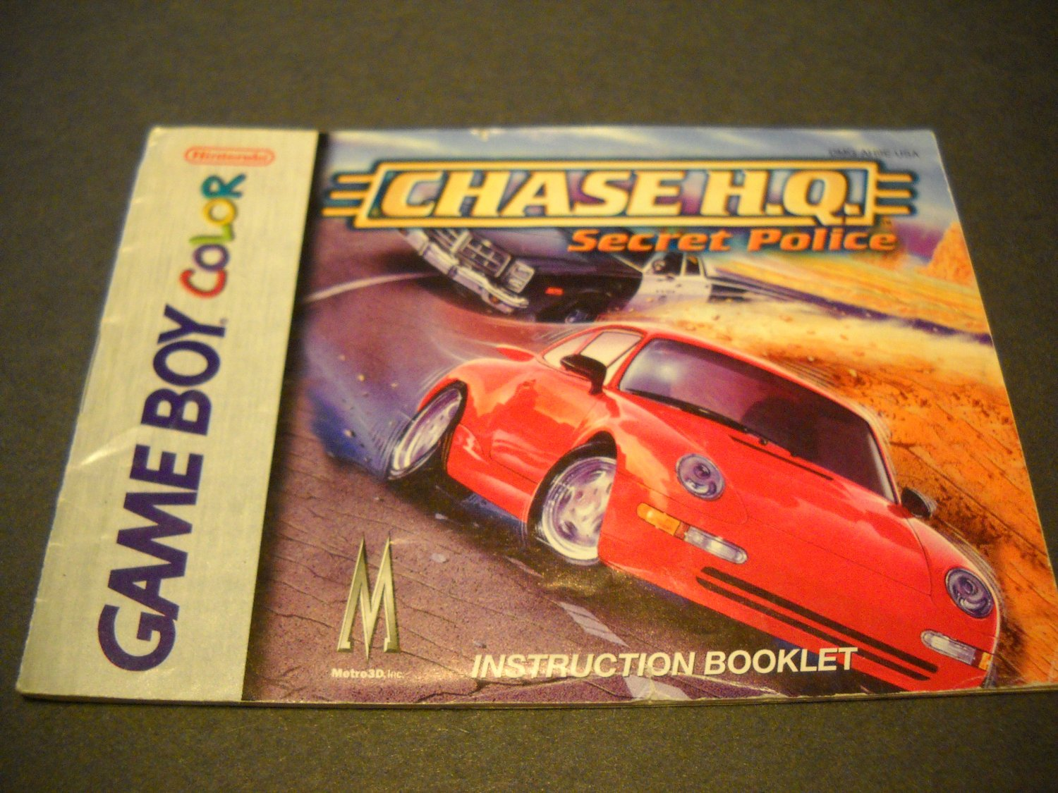 Manual ONLY ~  for Chase H.Q. Secret Police Gameboy Color, GBC