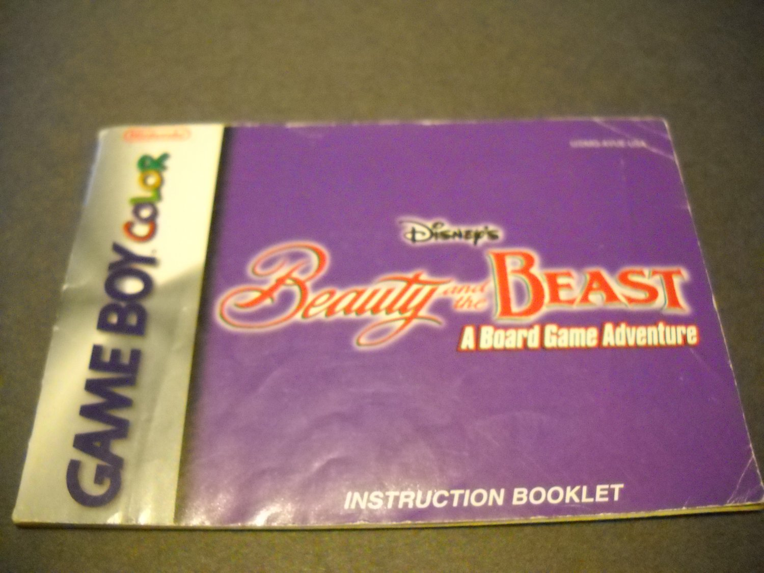 Manual ONLY ~  for Disney's Beauty and the Beast  Gameboy Color, GBC