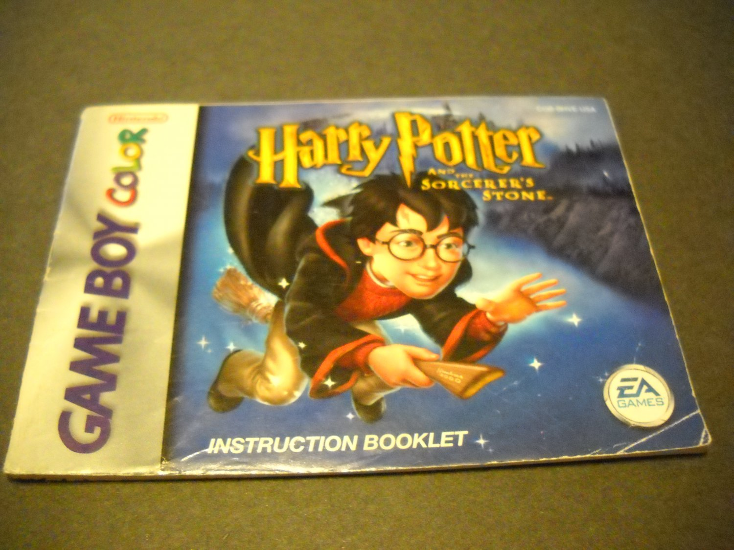 Manual ONLY ~  for Harry Potter and the Socerer's Stone Gameboy Color, GBC