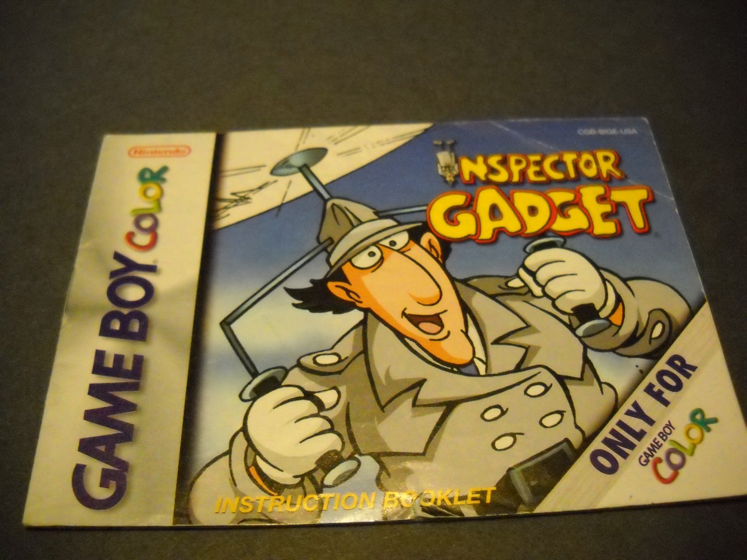 Manual ONLY ~  for Inspector Gadget Gameboy Color, GBC