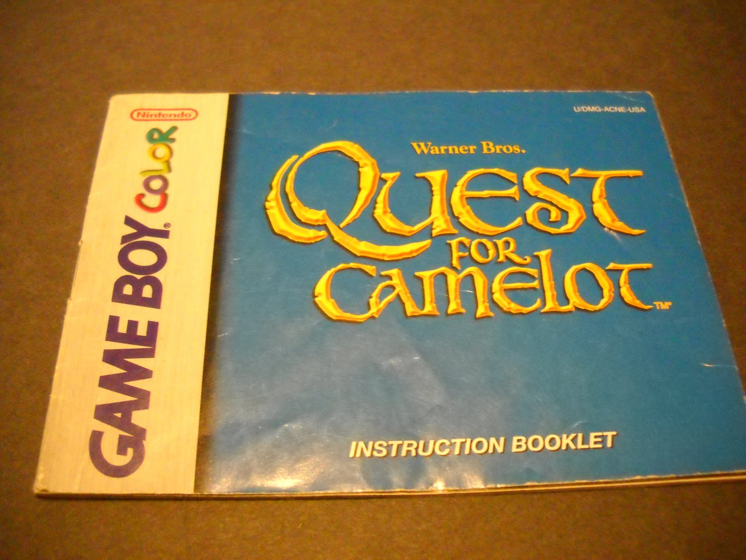 Manual ONLY ~  for Quest for Camelot Gameboy Color, GBC