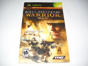 Manual ONLY ~  for Full Spectrum Warrior   Xbox