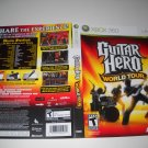 Artwork ONLY ~  Guitar Hero World Tour   - Xbox 360 Cover Art Insert