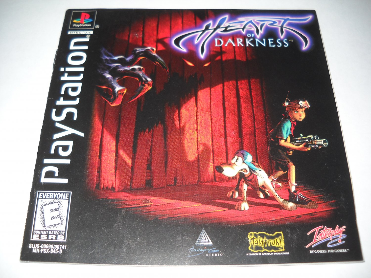 Manual ONLY ~ Heart of Darkness - Instruction Booklet - Ps1, Playstation 1