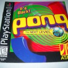 Manual ONLY ~ Pong the Next Level - Instruction Booklet Ps1