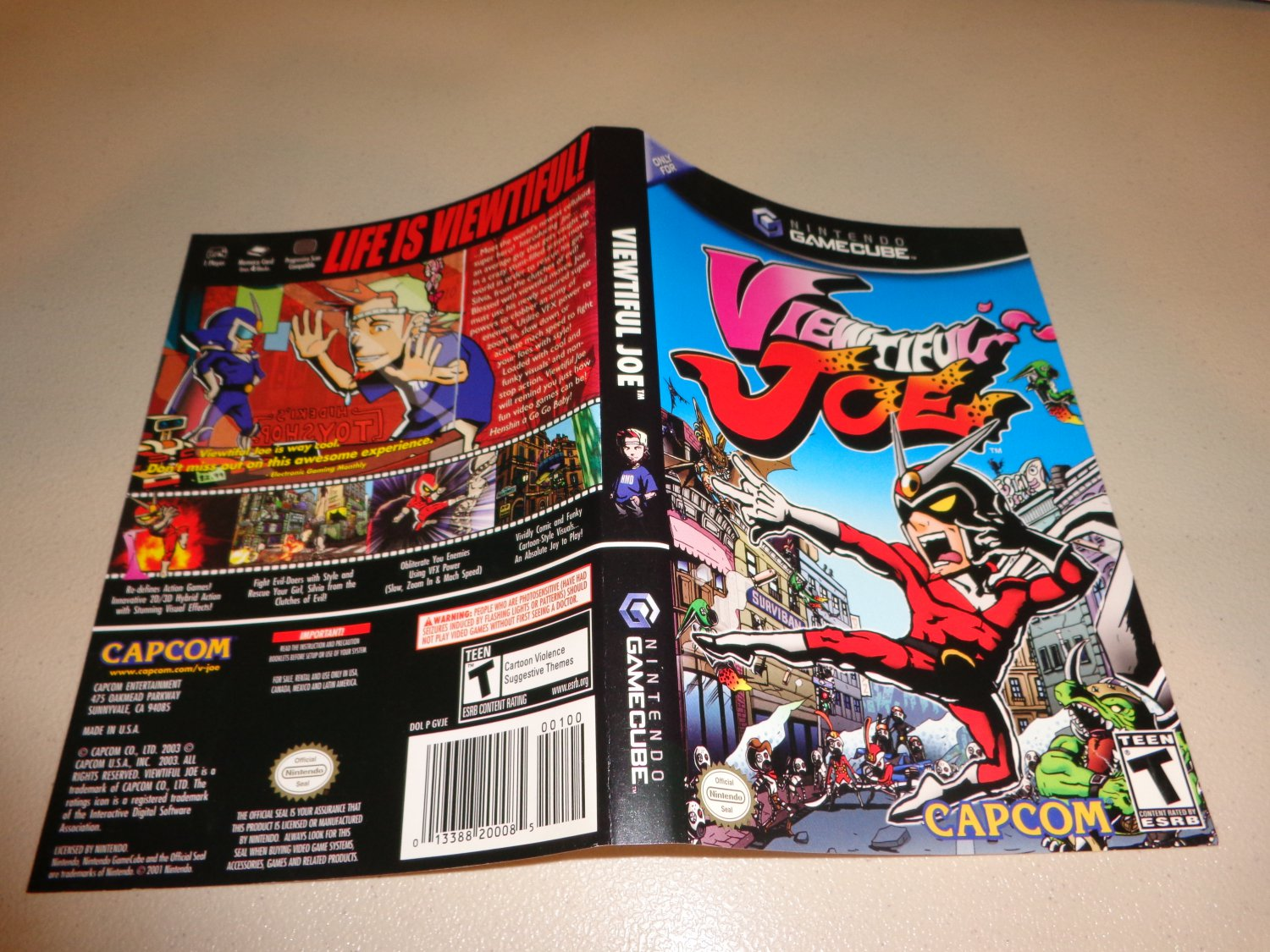 Artwork ONLY ~ Viewtiful Joe - Cover Art Gamecube