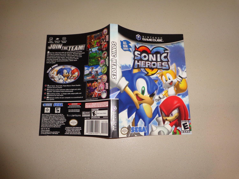 Artwork ONLY ~ Sonic Heroes - Gamecube Cover Art Insert