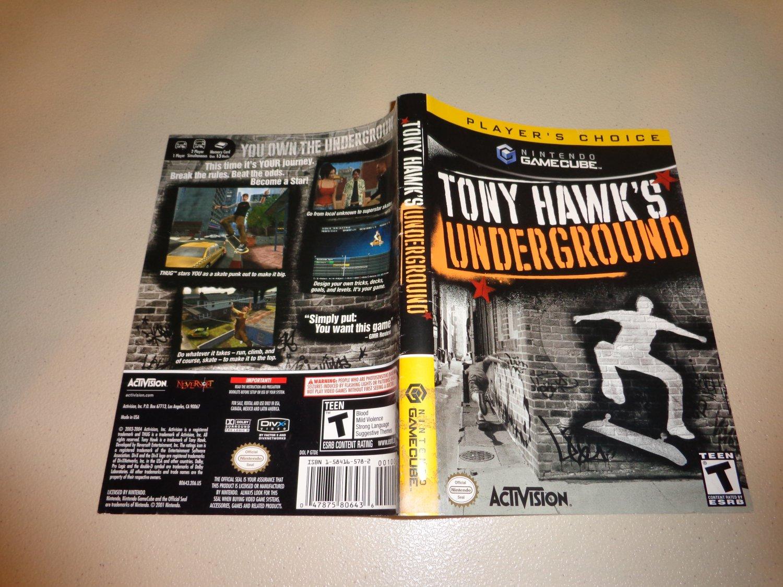 Artwork ONLY ~ Tony Hawk's Underground PC - Gamecube Cover Art Insert