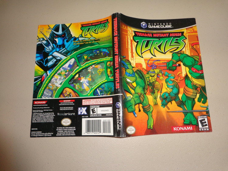 Artwork ONLY ~ Teenage Mutant Ninja Turtles - Gamecube Cover Art Insert