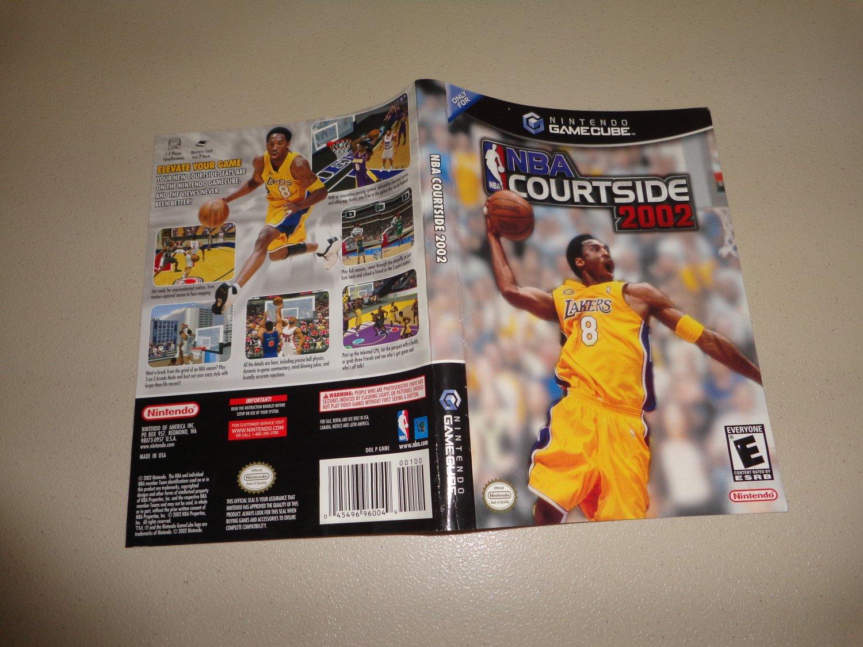 Artwork ONLY ~ NBA Courtside 2002 - Gamecube Cover Art Insert