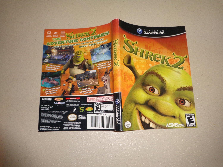 Artwork ONLY ~ Shrek 2 - Gamecube Cover Art Insert