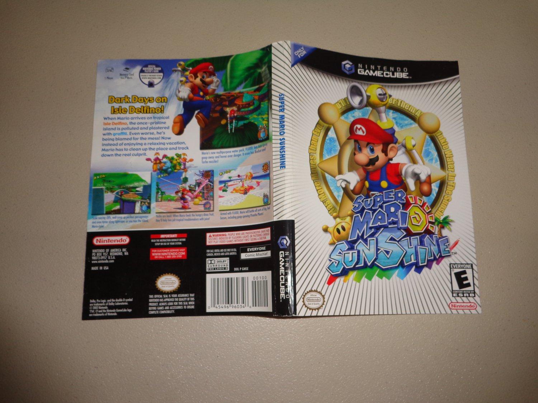 Artwork ONLY ~ Super Mario Sunshine - Gamecube Cover Art Insert