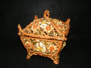 Zsolnay Reticulated Covered Box