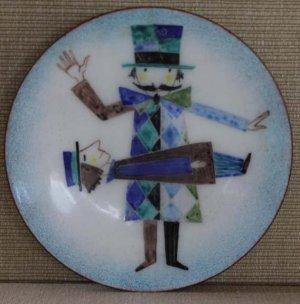 Enamel on Copper Dish by Franz Bergmann