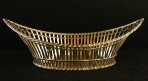 Silver plate Bread Basket by F M Quist, Esslingen, Germany
