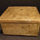 Victorian Aesthetic Embossed Brass Sewing Box