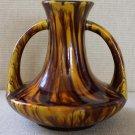 Polychrome Japanese Sanpei Kiln Awaji Ware Handled Vase