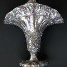 """Barbour  International Silver Large Dutch Style Repoussé Silver Plate Flower Basket, 22 ½"""""""