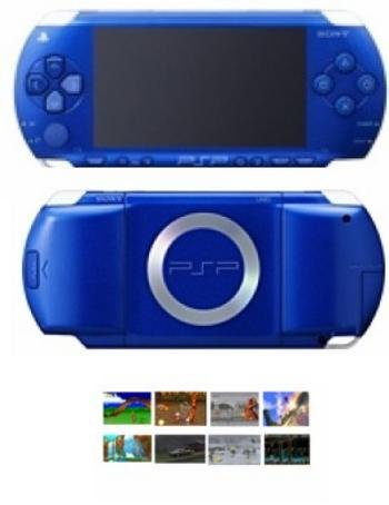 Sony Playstation Portable Blue Metallic Bundle with 40+ Games