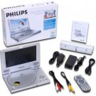 Philips PET805 8 Portable DVD Player (Silver)