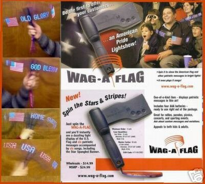 July 4th Sport ~WAG-A-FLAG~ USA Lighted Musical banner