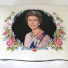 Vintage Bone China Box Crown Staffordshire Silver Jubilee Queen Elizabeth 1977