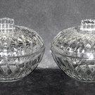 Vintage Jars Pressed Pattern Glass Mid Century Pair