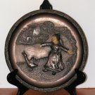 Vintage Incolay Collector Plate French Bronze Uncertain Beginning Life's Interludes First Edition