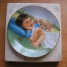 Vintage Collector Plate Curious Kitten Little Girls Collection Robert Anderson First Issue
