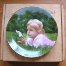 Vintage Collector Plate Apple Blossom Time Little Girls Collection Robert Anderson Fourth Issue