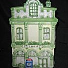 Vintage Cookie Jar Figural Post Office Ceramic
