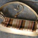 Vintage Liz Claiborne Handbag Sequins Stripes Strap