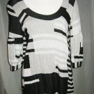 Black/White/Silver Cocktail Dress/Top