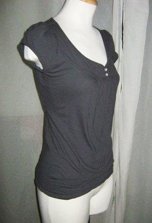 Dark Gray Basic Casual Top