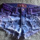 Custom Purple Studded Denim Shorts Size 5