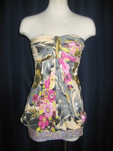 SKY Brand Rhinestoned Tube Dress S
